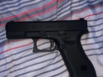 Selling: Glock 45 Airsoft Blowback 9x19 gas fully licensed gun