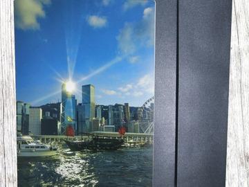 : (Sights of Hong Kong Greeting Card 1) Red Sail on The Harbor