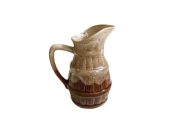 Vente: Pichet vintage en céramique marron