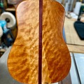 Selling with online payment: Guitar Shaped Curly Black Cherry Cutting Board