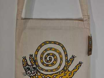 Myydään tavaraa tai tarvikkeita: Tiikeri - Ainutlaatuinen käsinmaalattu laukku