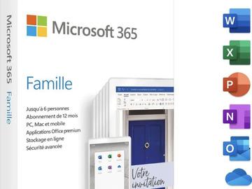 Vente: Microsoft 365 Office Famille 1 an (99€)