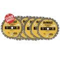 For Sale: BUY 5 X DEWALT10 7-1/4-INCH 24T FRAMING CARBIDE THIN KERF CIRCULA