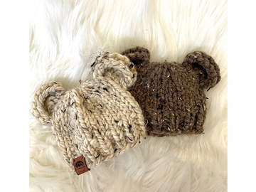 Selling: Baby Bear Chunky Hat 0-3m Natural Brown