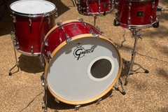 Selling with online payment: Gretsch Square Badge 1980 24, 16, 13, 6.5 x 14 w bags reduced 33%