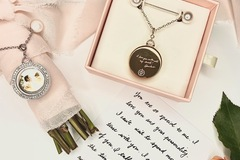 Selling: Your Actual Handwritten Photo Locket Necklace