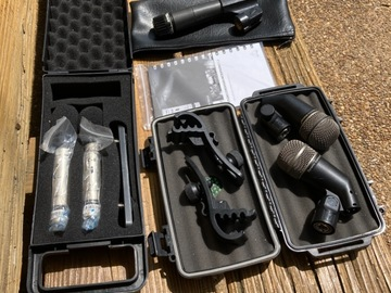 Selling with online payment: Drum Mics Shure, EV, Behringer   free shipping