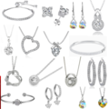 Liquidation/Wholesale Lot: Buy One Get One Free! $900 Swarovski Elements Jewelry Mystery lot
