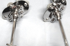 Selling with online payment: Rogers 1960s Swivomatic bass drum spur units w/ Pat. Pend. noses
