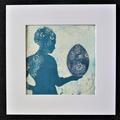 """Myydään taidetta: Monoprint-teos """"Elämän yllätysmuna"""""""