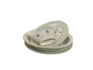 Vente: Service de table vintage Porcelaine tons pastels