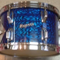Selling with online payment: 1968-69 ROGERS 8x12 rack tom in Blue Onyx