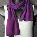 """Selling with online payment: Hand Dyed Tussah Silk Scarf in Purples 8"""" x 54"""""""