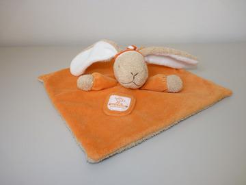 Vente: Doudou lapin orange comme neuf