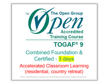 Scheduled Course: TOGAF® 9 Training Course: Combined (lev 1 & 2) |  3 days