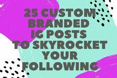 Offering online services: 25 Custom Designed Instagram Post Package