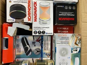 Liquidation/Wholesale Lot: Magnavox other brands Bluetooth speaker lot !!! MSRP 3297.00