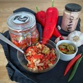 Pre-order: Red peppers with tuna and green olives