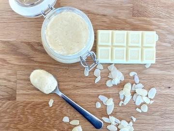 Pre-order: Almond and white chocolate cream