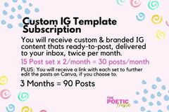 Offering online services: Custom IG Template Subscription