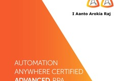 Fixed cost -  Per Process: Automation Anywhere Certified RPA Developer
