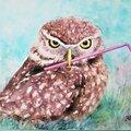 """Myydään taidetta: Akvarelli  """"Angry Bird!"""""""
