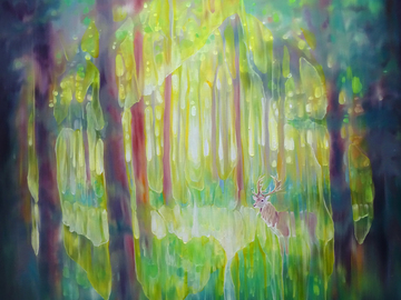Sell Artworks: The Hart of the Green Wood