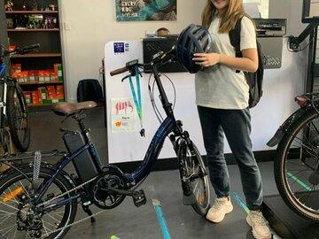 Weekly Rate: Fun & Foldable! NCM Paris E-Bike perfect for exploring Brisbane!