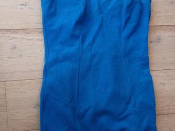 Vente au détail: maillot de bain vintage 1 pièce jupette  bleu roi T.42