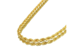 Liquidation/Wholesale Lot: 50 Diamond Cut Rope Chains 14 kt Gold Plated - 24 inch- 3 mm