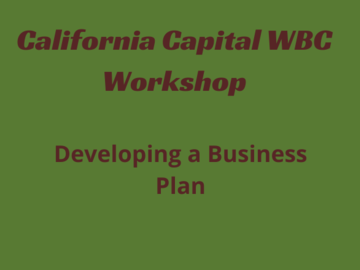 Announcement: Virtual Workshop Series: Developing a Business Plan