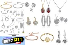 Liquidation/Wholesale Lot: Buy 2 Get 1 FREE -25 Assorted pieces Swarovski Elements Jewelry