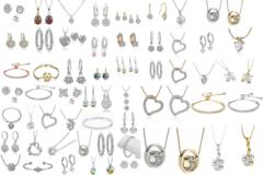 Liquidation/Wholesale Lot: Buy 100 Get 50 FREE =150 mixed pieces Swarovski Elements Jewelry
