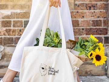Selling: Organic Cotton Tote Bag with Pockets
