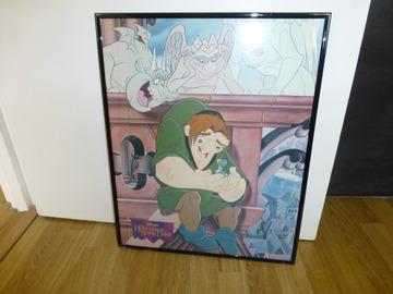 Vente: Tableau moderne Notre Dame de Paris avec Quasimodo