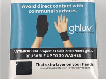 Liquidation/Wholesale Lot: 16 boxes Ghluv Antimicrobial Hand Protectors