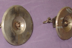 Selling with online payment: RARE pair of 1920s Elton Greeko cymbals with mounts