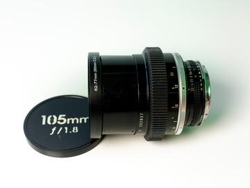 Vermieten: Nikkor 105mm f/1.8 Cine-Mod EF-Mount