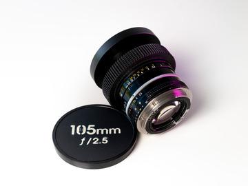 Vermieten: Nikkor 105mm f/2.5 Cine-Mod EF-Mount