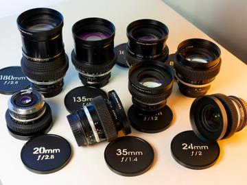 """Vermieten: """"Cine-Set"""" Nikkor Cine-Mod EF-Mount (8 Lenses)"""