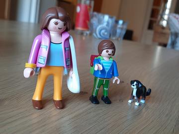 Vente avec paiement en ligne: Playmobil petit ensemble maman-enfant-chien