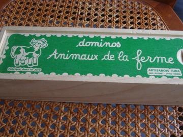 "Vente: Dominos en bois ""animaux de la ferme"""