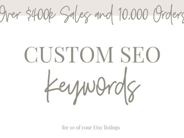Offering online services: Custom SEO Tags for 10 of your Product Listings!