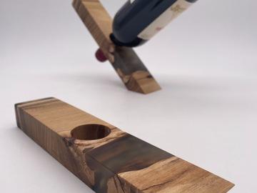 : Solid Wood x Epoxy Resin Magic Wine Stand