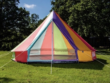 Renting out with online payment: 5m rainbow lightweight bell tent