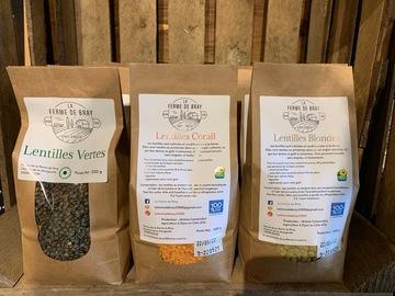 Vente avec paiement en direct: Lentilles vertes 1 kg