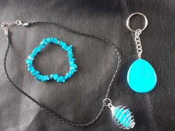 For Sale: 3pc Turquenite Healing Crystal Jewellery Set
