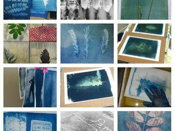 Workshop Angebot (Termine): Cyanotypie - malen mit Licht