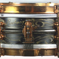 Selling with online payment: 1920s LUDWIG 4x14 Black Beauty ocean wave pattern 8 lug