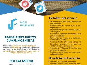 Servicio freelance: Social Media
